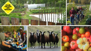 Projets d'agriculture durable à vélo
